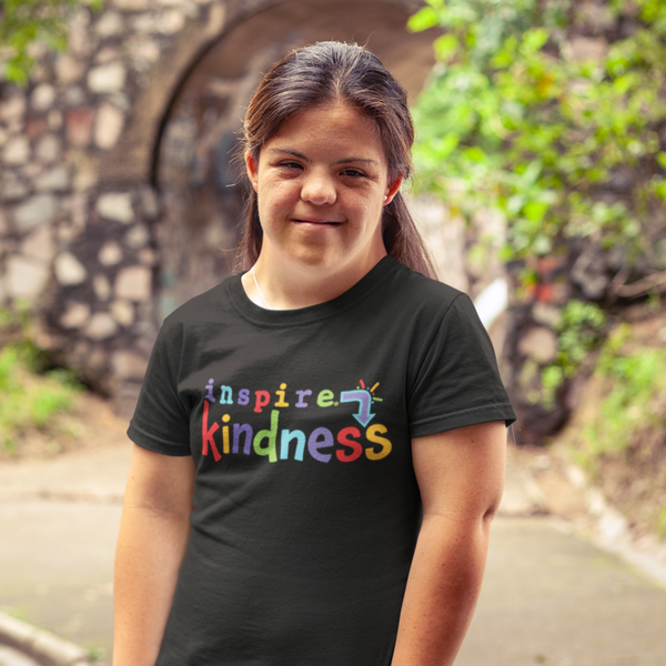inspire Kindness Unisex T-shirt Colorful graphic with a positive message