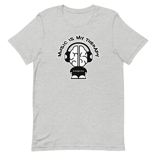 Music Is My Therapy Hip Hop inspire Short-Sleeve Unisex T-Shirt