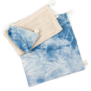 set of reusable cloth bags