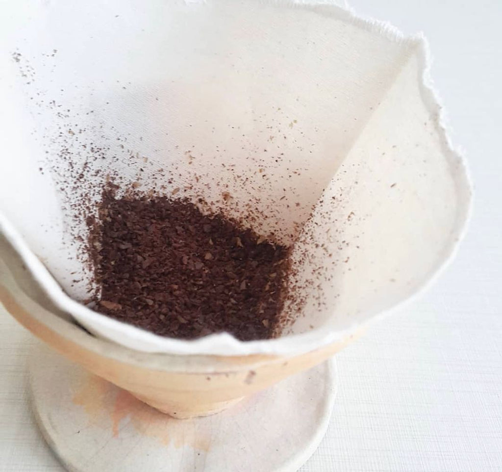 organic cotton reusable coffee filter