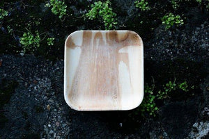 square 7 inch palm leaf plate