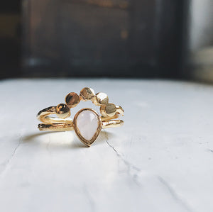 Moondrop Moonstone Ring