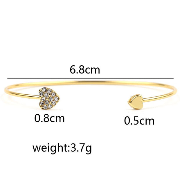 Avenue Elegant Heart Bangle-Avenue