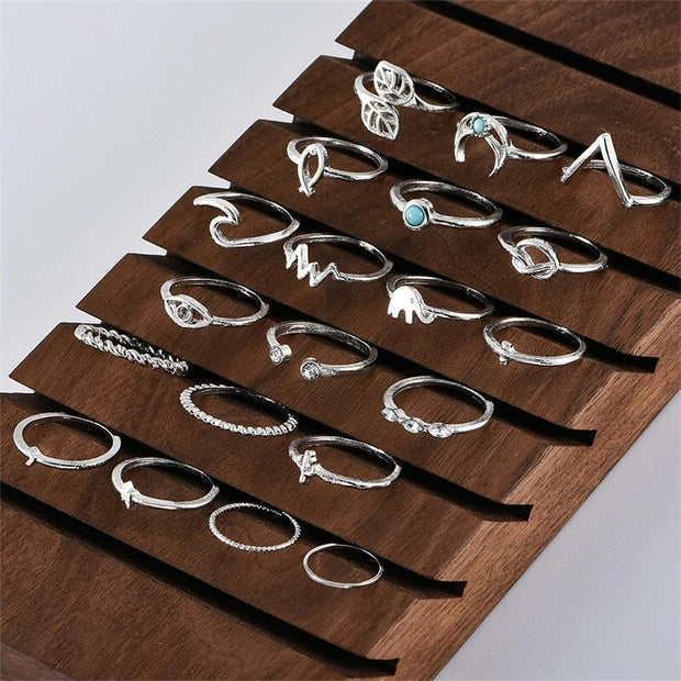 Avenue 20 Pieces Symbols of Life Ring Set-Avenue