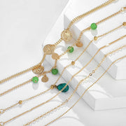 Avenue Retro Green Minimalist Bracelet-Avenue