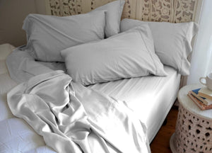 Natural Bamboo Pillowcases - Harbor Mist Gray - Harbor Mist