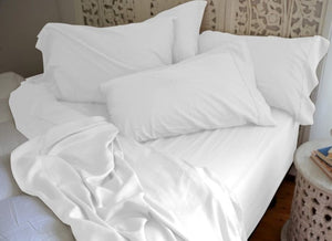 Natural Bamboo Pillowcases - Lotus White - Natural Bamboo