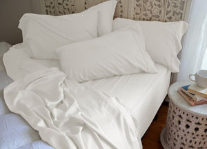 Natural Bamboo Pillowcases - Pearled Ivory - Pearled Ivory