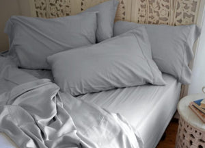 Natural Bamboo Pillowcases - Sea Breeze Blue - Sea Breeze