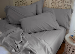 Natural Bamboo Pillowcases - Sharkskin Dark Gray - Sharkskin