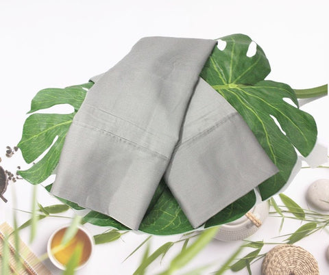 Natural Bamboo Pillowcases  -  Sharkskin Dark Gray are cooling, soft and durable. A beautiful dark gray goes with everything. See matching sheets.