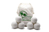 100% Wool Dryer Balls - 6 pack Organic new Zealand Wool dryer balls speed up laundry drying time. Softens fabrics and reduces wrinkles. Reduces static cling.