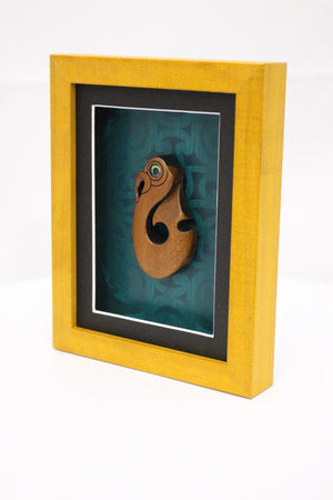 Carved Matau Frame