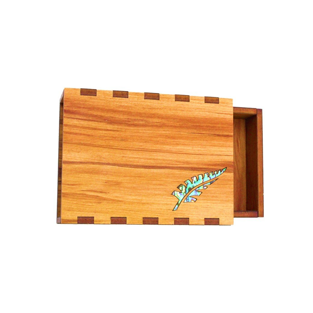 Paua Fern business card Box