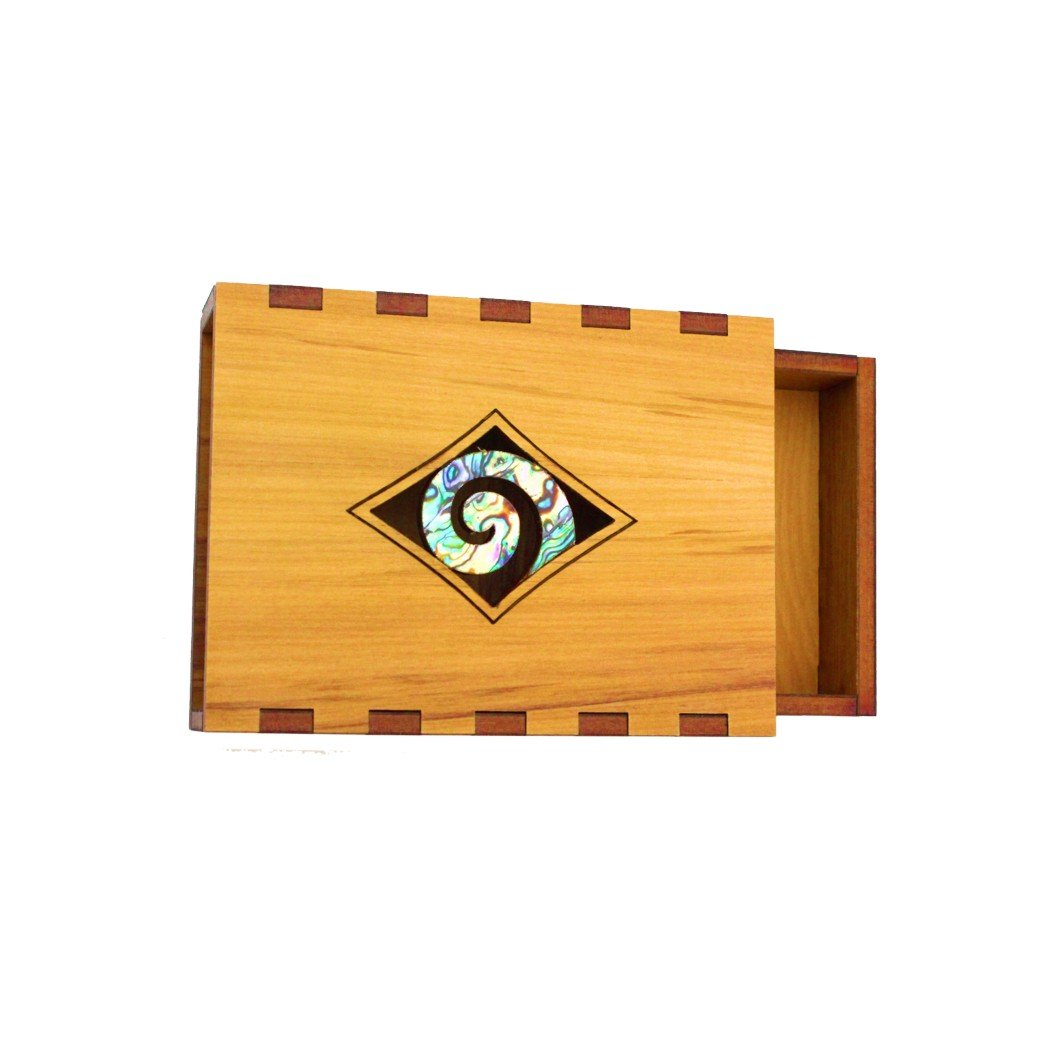 Paua Koru business card Box