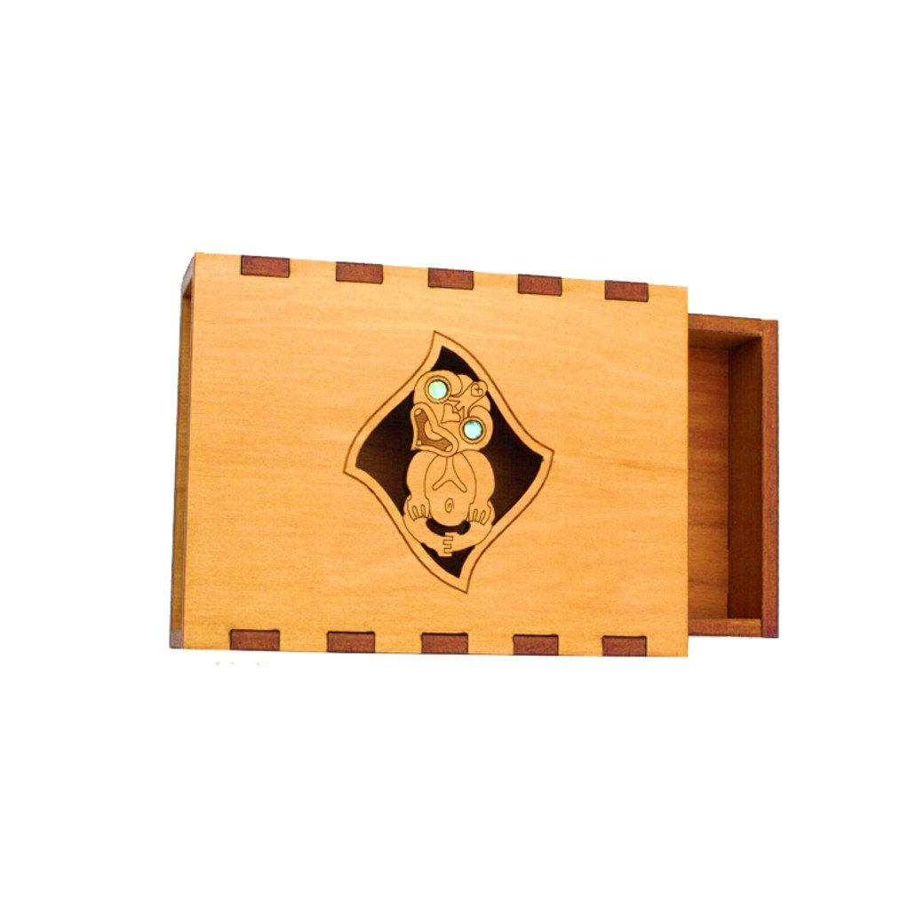 Tiki Business Card Box