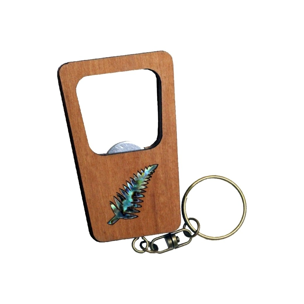 Fern Keychain Bottle Opener