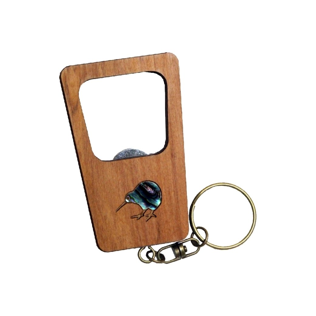 Kiwi Keychain Bottle Opener