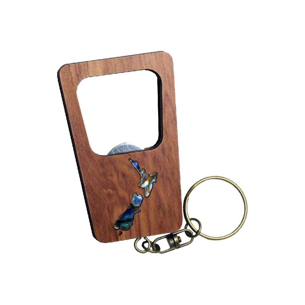 NZ Map Keychain Bottle Opener