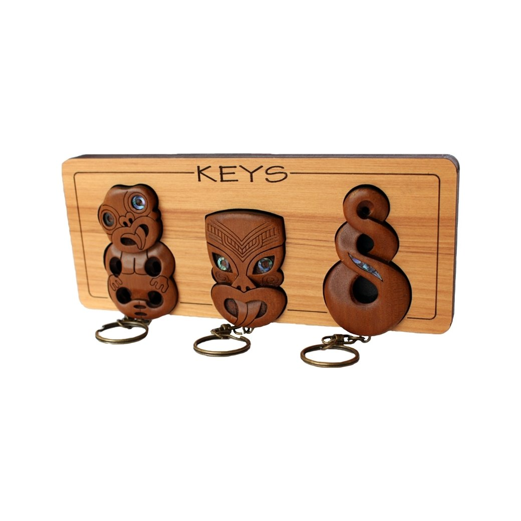 Carved Key Rack