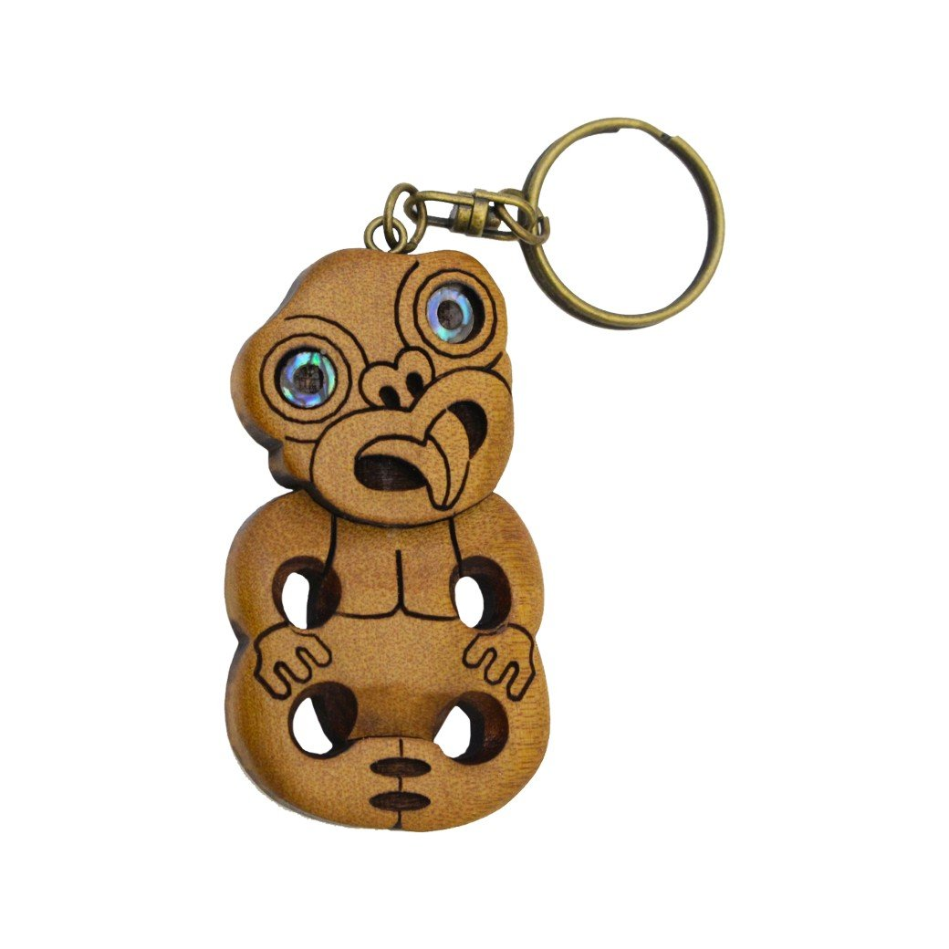 Carved Tiki Keychain