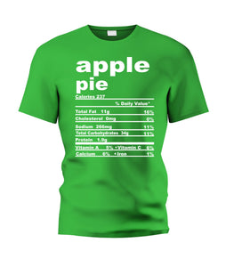 Apple Pie Nutritional Facts Tee