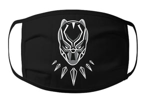 BP - BlackPanther Face Mask - 100% Cotton 3 Layer / Washable