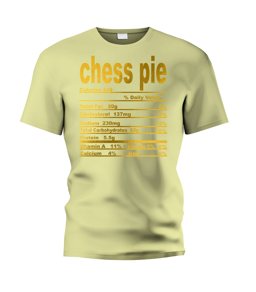 Chess Pie Nutritional Facts Tee