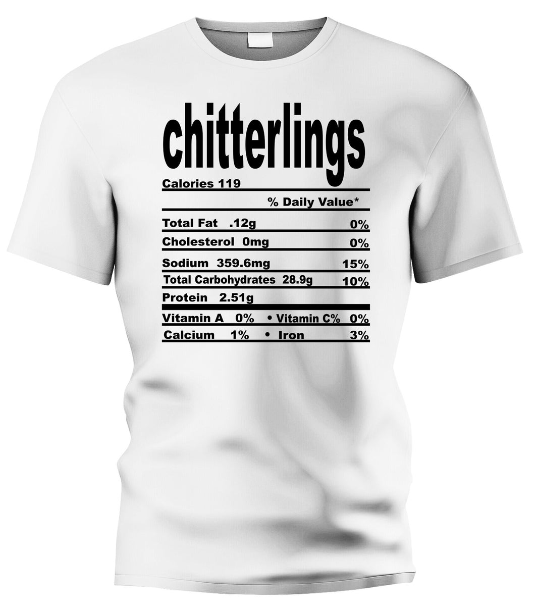 Chitterlings Nutritional Facts Tee