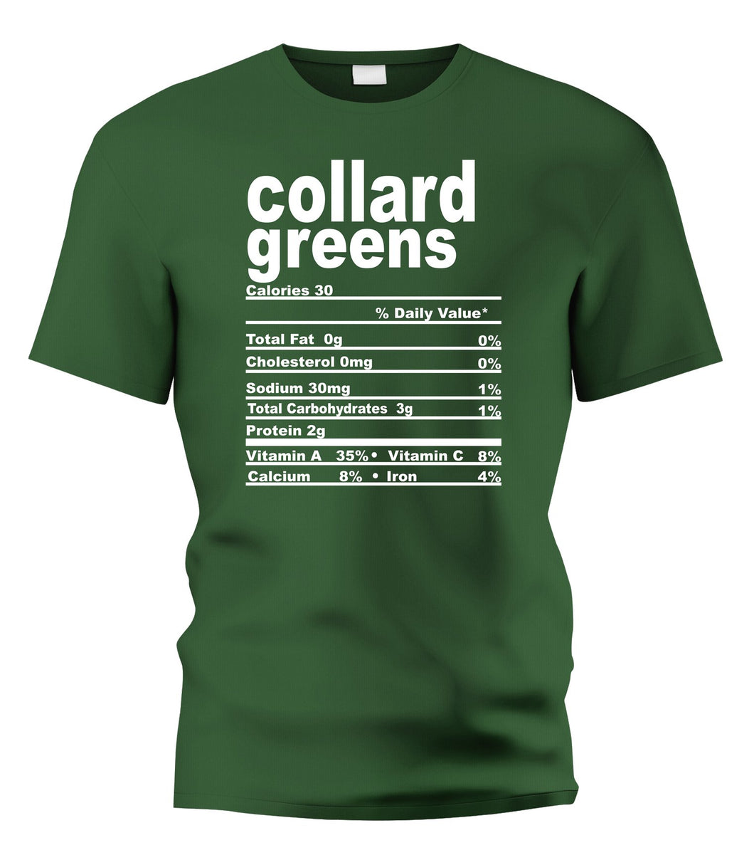 Collard Greens Nutritional Facts Tee