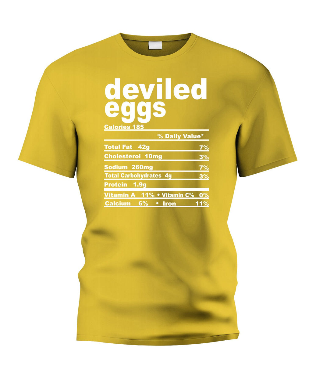 Deviled Eggs  Nutritional Facts Tee