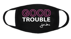 """Neon"" Good Trouble-Rep John R Lewis Face Covering"