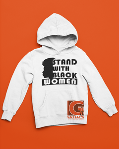 SWBF: Stand With Black Women, Face Hoodie (Unisex)