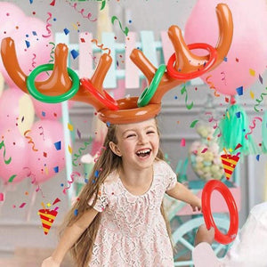 50% OFF Today-Christmas Reindeer Antlers Ring Toss Game