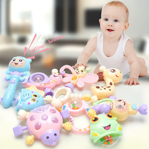 6Pcs-10Pcs / Set Of Teething Rattles Baby Toys