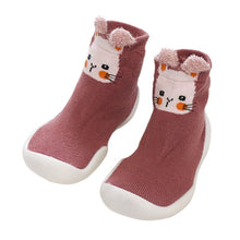 Load image into Gallery viewer, baby sock shoes baby girl baby boy floor anti-slip shoes Childrens Winter Printing Warm Flat Shoelace Socks Toddler Shoes