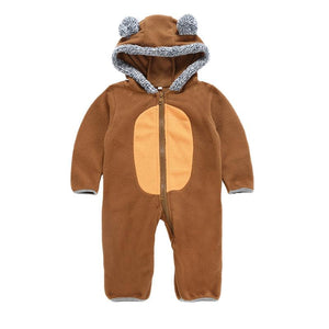 50% OFF Today-Fleece Baby Onesie,Comfortable And Warm