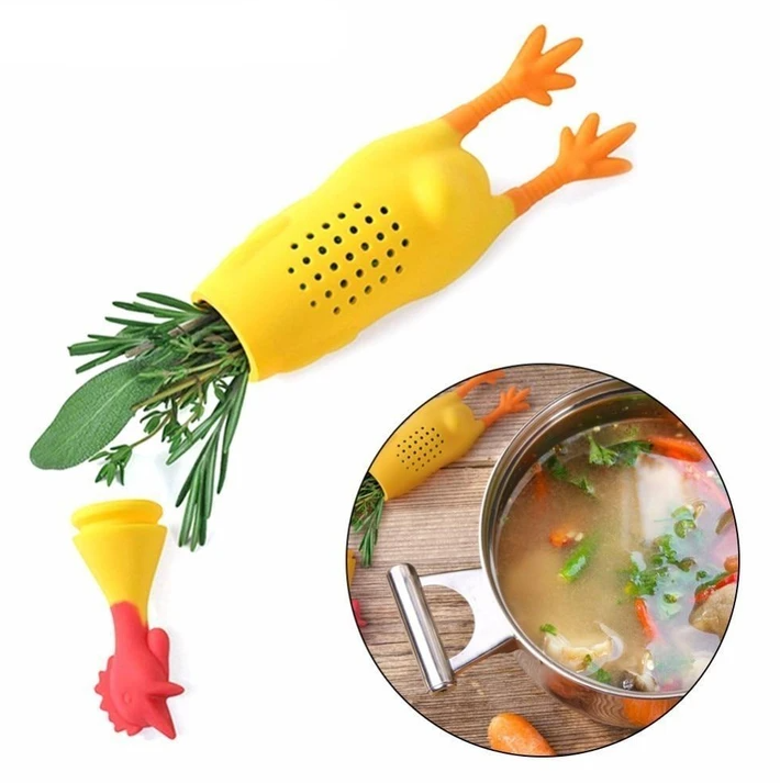 Silicone Rooster Infuser Seasoning Pot