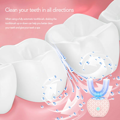 360° Sonic Toothbrush - Teeth Whitener and Gum Massager