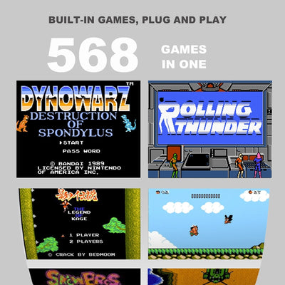 568 Classic Games Build In