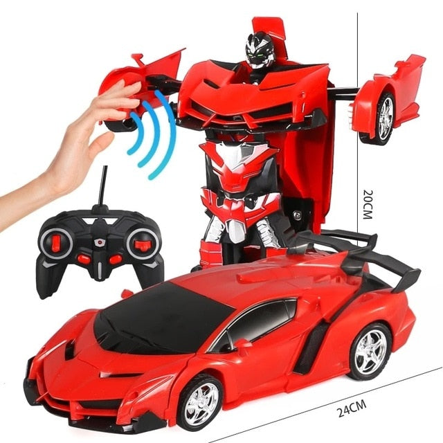Gesture Sensing Transformation Robot Car