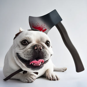 PEGOISM Axe Headwear Pet Costume - For Dogs and Cats - Perfect for Halloween, Christmas, Cosplay and Fancy Dress Parties