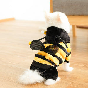 PEGOISM BEE Pet Costume - For Dogs and Cats - Perfect for Halloween, Christmas, Cosplay and Fancy Dress Parties