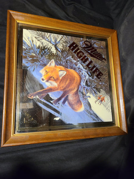 Sly Fox Mirror Miller High Life Beer Sign