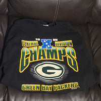 Green Bay Packers 1995 Championship Sweater Black Sweatshirt Size L Large