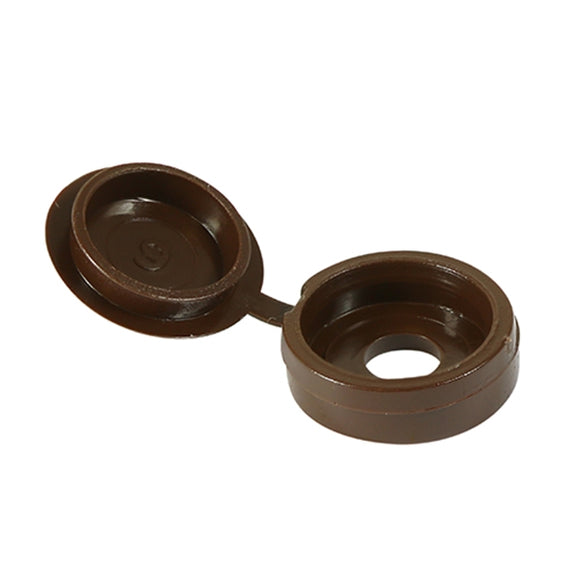 Hinged Screw Caps 5.00mm-6.00mm Brown/White (Click for Range)