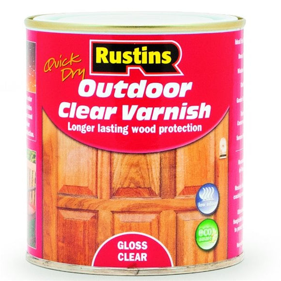 Quick Dry Outdoor Varnish Gloss Clear - (Click for Range)
