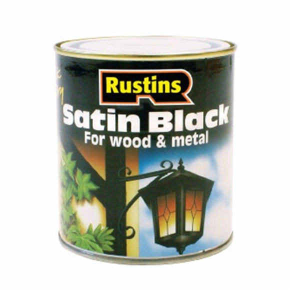 Quick Dry Satin Black - (Click for Range)