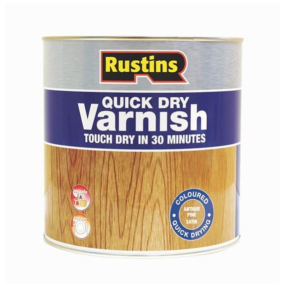 Quick Dry Varnish Satin - (Click for Range)