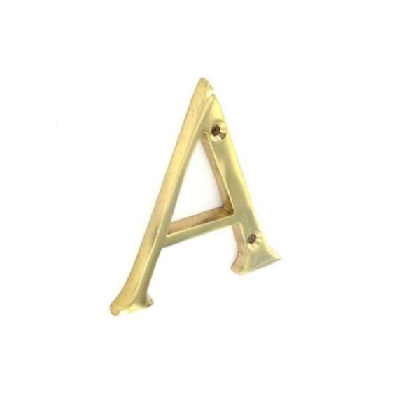 Letter 'A' 75mm Brass/Chrome